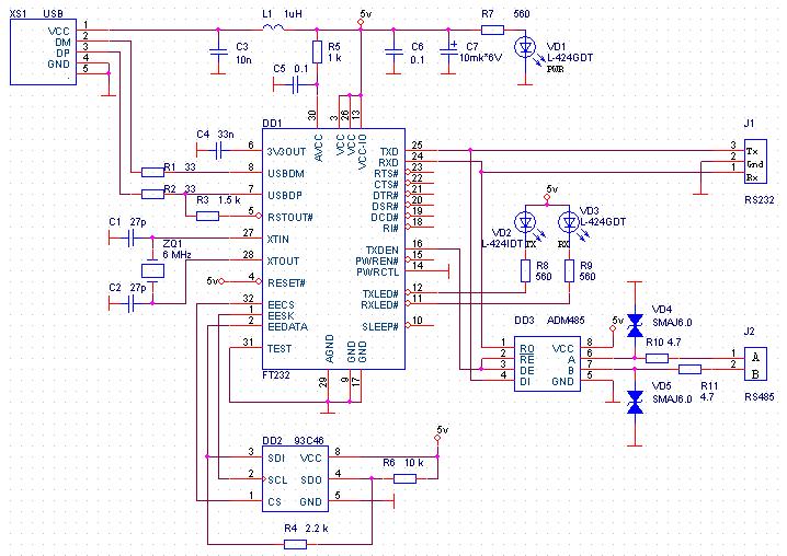 Схема интерфейс rs-232